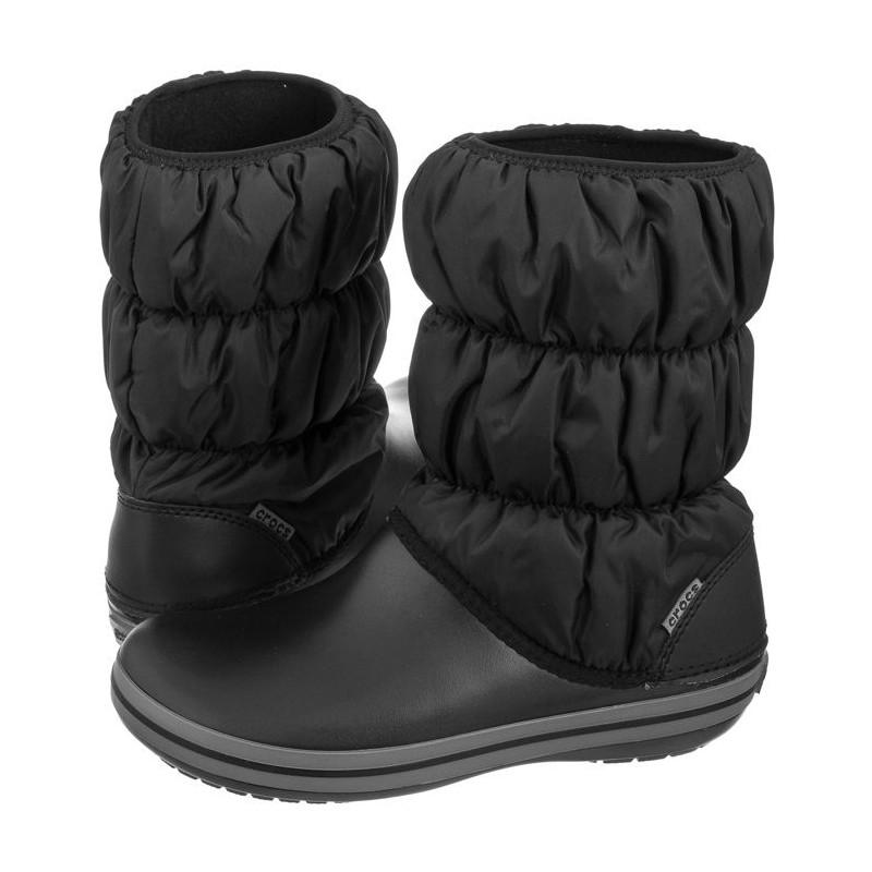0b9e8fa09f6 Crocs Winter Puff Boot W Black/Charcoal 14614-070 (CR135-a) saapad