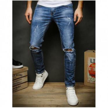 Kelnės (Spodnie męskie jeansowe niebieskie UX2386