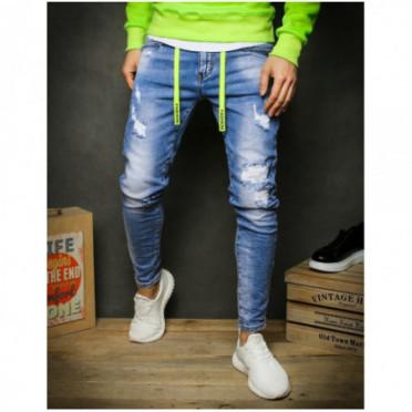 Kelnės (Spodnie męskie jeansowe niebieskie UX2389