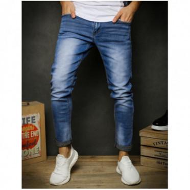 Kelnės (Spodnie męskie jeansowe niebieskie UX2390