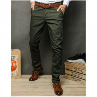 Kelnės (Spodnie męskie chinosy granatowe UX2391