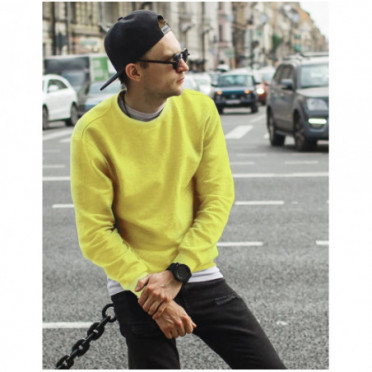 Džemperis (Bluza męska gładka żółta BX4505