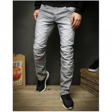 Kelnės (Spodnie jeansowe męskie szare UX2423