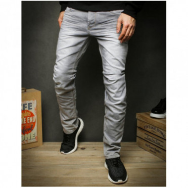Kelnės (Spodnie jeansowe męskie szare UX2424