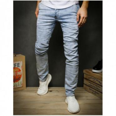 Kelnės (Spodnie jeansowe męskie niebieskie UX2426