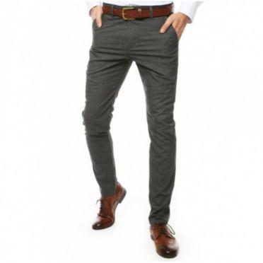 Kelnės (Spodnie męskie ciemnoszare UX2445