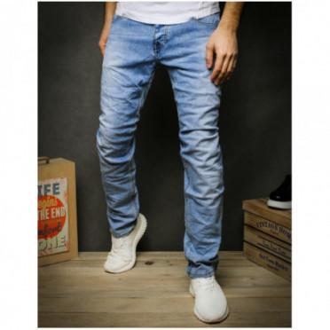 Kelnės (Spodnie jeansowe męskie niebieskie UX2431